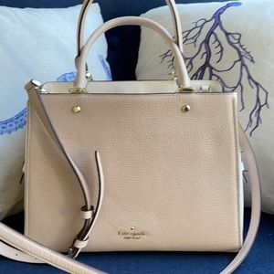 Kate Spade leila medium triple compartment satchel